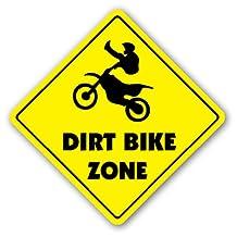 DIRT BIKE ZONE Sign xing gift novelty jump berm tires trail ride