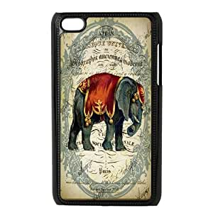 Elephant High Quality Pattern Hard Case Cover for For ipod Touch 4 Case FKGZ424333