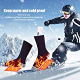 MSOO Rechargeable Heating Cotton Heated Socks Keep Warm Foot Electric Warming Charge