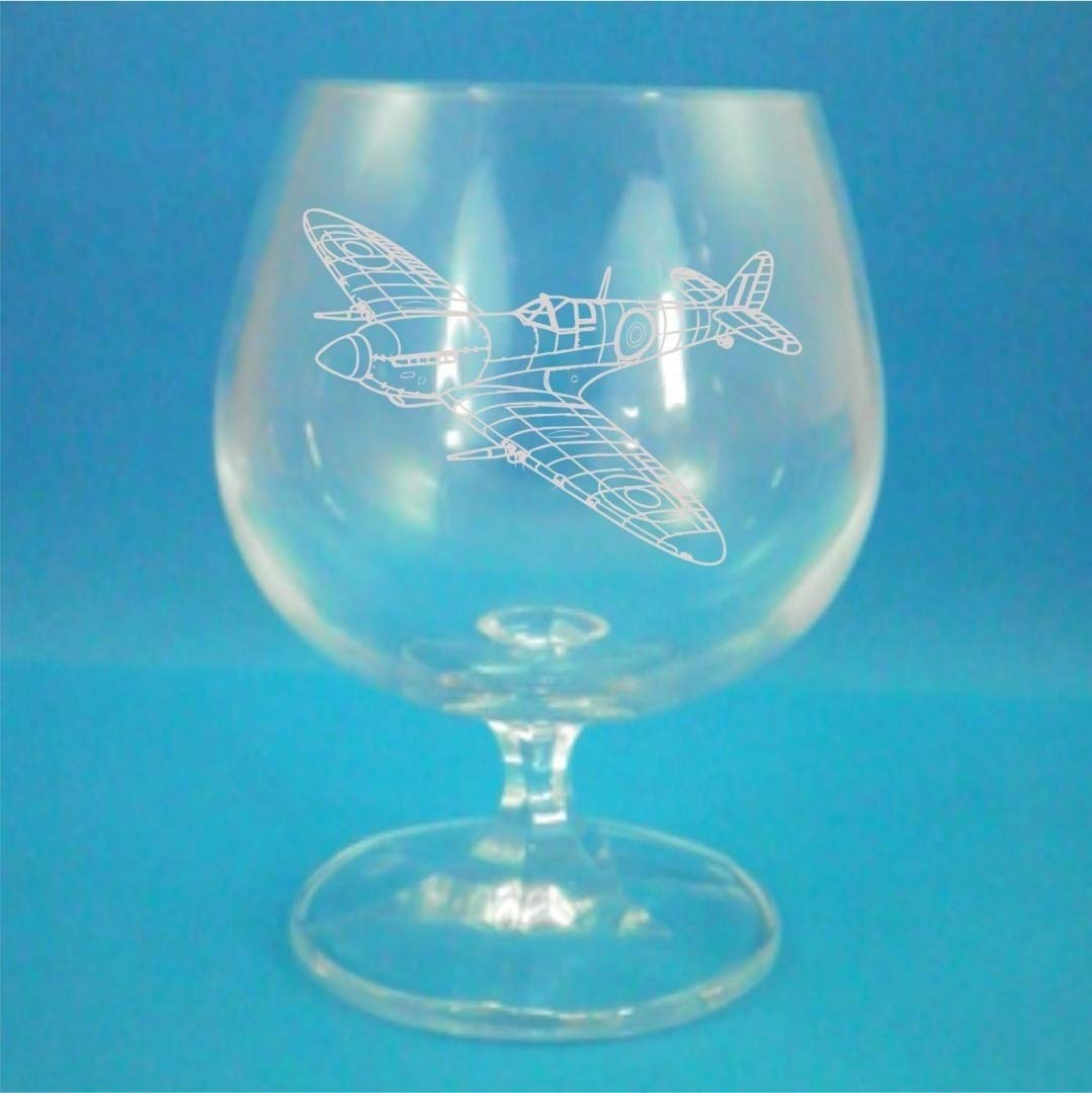 Bohemia Crystal Brandy Glass With Spitfire Design Presented In Gift Box