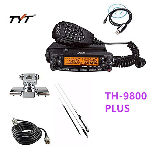 TYT TH-9800 Plus 50W 809CH Quad Band Dual Display Repeater Car Truck Radio+Cable