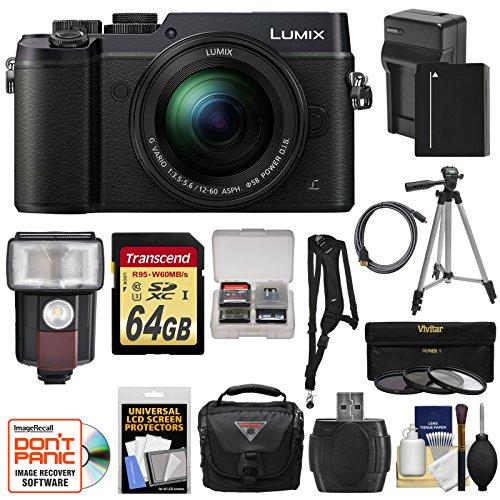 UPC 689466866438, Panasonic Lumix DMC-GX8 4K Wi-Fi Digital Camera Body (Black) with 12-60mm Lens + 64GB Card + Battery & Charger + Case + Filters + Tripod + Flash + Kit