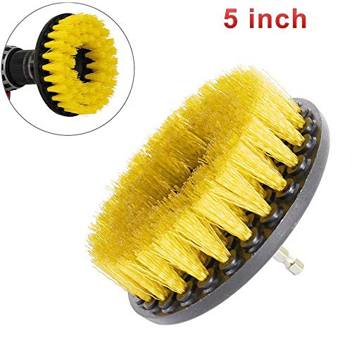 - JahyShow 5 Inch Drill Brush, Medium Duty Power Scrubbing Brush Drill Attachment for Scrubbing/Cleaning Tile, Grout, Shower, Bathtub, and All Other General Purpose Scrubbing (1 Pack)