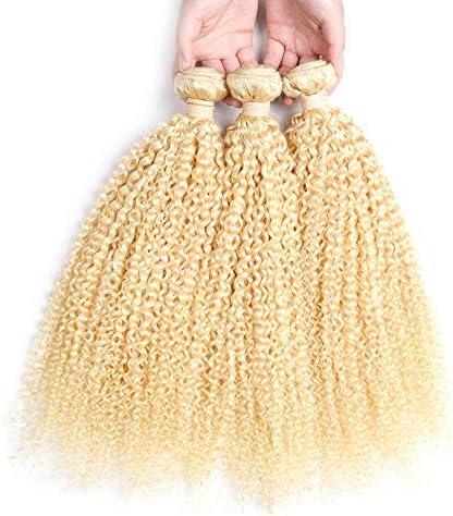 CUIYUNTAOshop ヘア エクステンション 金髪 巻き髪 ワンタッチ ウイッグ かつら クリップ 超自然 ポイントウィッグ ウィッグ 耐熱 ブロンド(1束、10-26インチ、100グラム) (Color : Blonde, Size : 12 inch)