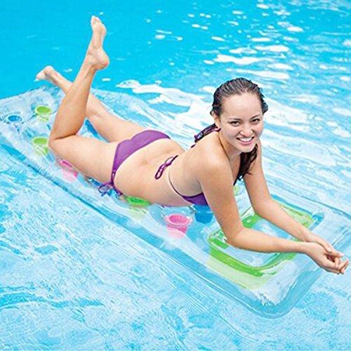 Pool Float, ZICA 18 Pocket Fashion Mattress Pool Lounger Lounge for Adult Kids
