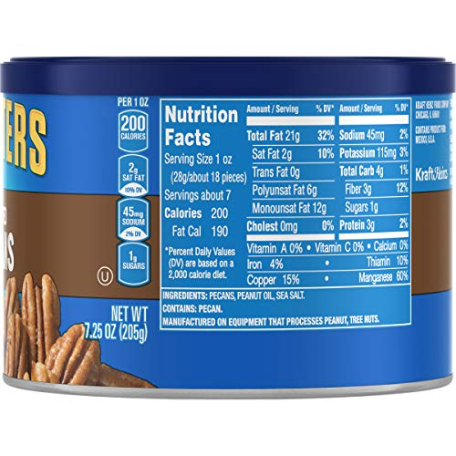 Large Product Image of Planters Pecans, Roasted & Salted, 7.25 Ounce Canister