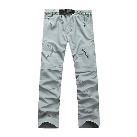 c228114fc7f4 GITVIENAR Herren Outdoor schnell trocknende Hosen Zwei Teile zerlegbar  wandernde Hose atmungsaktive Bequeme lockere Hosen verschleißfeste