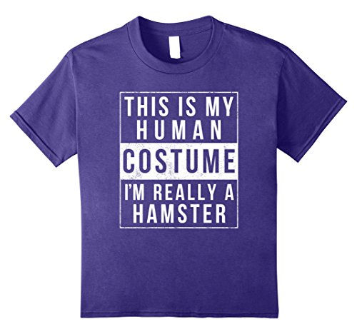 Kids Hamster Halloween Costume Shirt Funny Easy for Kids Adults 12 Purple