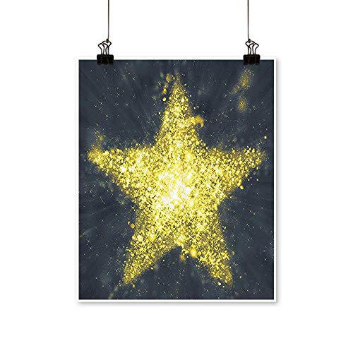 Artwork for Office DecorationsStar Figure in The Sky Universe Themed Flashing Night Modern Canvas Living Room,32