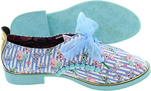 Irregular Choice  Buck Brogues, Chaussures de ville à lacets pour femme bleu bleu