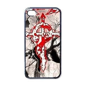 Fullmetal Alchemist Manga Anime Black iPhone 4 Hard Cases Cover - iPhone 4s Phone Cases SP1004