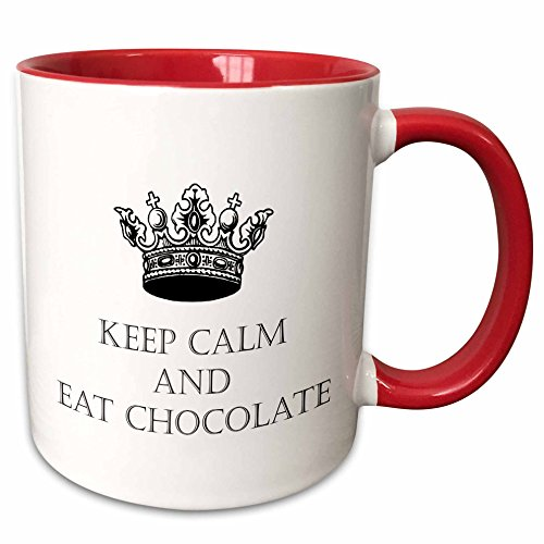 3dRose 253193_5 Keep Calm Eat Chocolate Mug 11 oz
