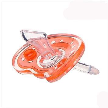 SHYI Chupete Soother Gel de sílice 0-18 Meses Suave Uso del sueño Con agujeros para el paso del aire , Orange