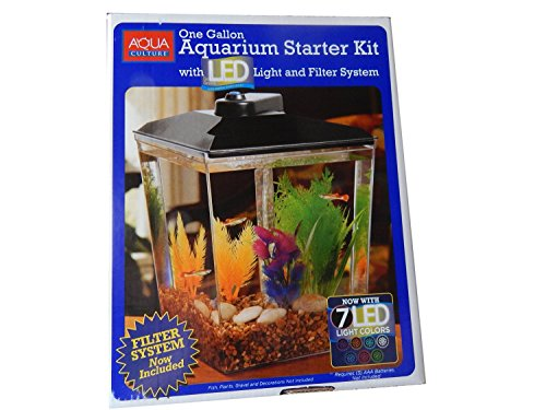 aqua culture one gallon aquarium starter kit reviews compare deals pet supplie quick. Black Bedroom Furniture Sets. Home Design Ideas