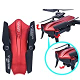 Inverlee L6060W 2.4G 6-Axis RC Quadcopter Drone FPV WiFi 2MP Real-time View Foldable Altitude Hold (Red)