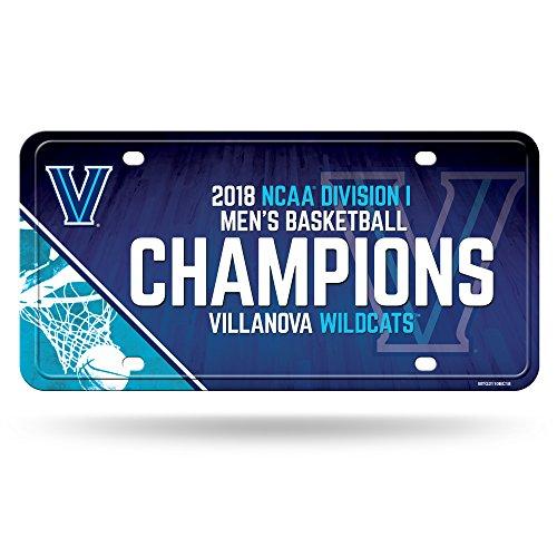 - NCAA Villanova Wildcats 2018 Men's National Basketball Champions Metal License Plate Tag