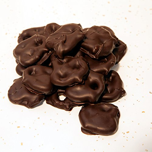 Hall's Chocolate Covered Pretzels, 1 Pound (Dark Chocolate)