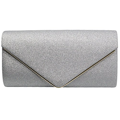 Evening Purse Envelope Bag Gold Party Shoulder Cckuu Faux Silver New Clutch Womens Suede 1qBAAv8SIw