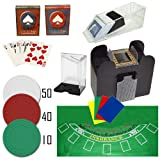 Complete Professional 6 Deck Blackjack Set - Includes 100 Bonus Poker Chips!