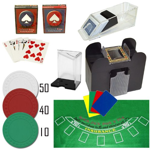 Complete Professional 6 Deck Blackjack Set - Includes 100 Bonus Poker Chips! by TMG