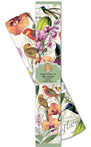 Michel Design Works Scented Drawer Liners, Orchids in Bloom,