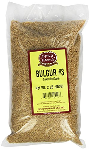 Spicy World Bulgur Cracked Wheat Coarse #3, 2-Pound Bags (Pack of 6) -
