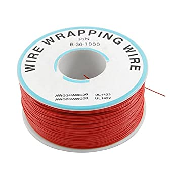 250m/lots 30 AWG Wrapping Wire RED Single Strand Copper Cable Ok ...