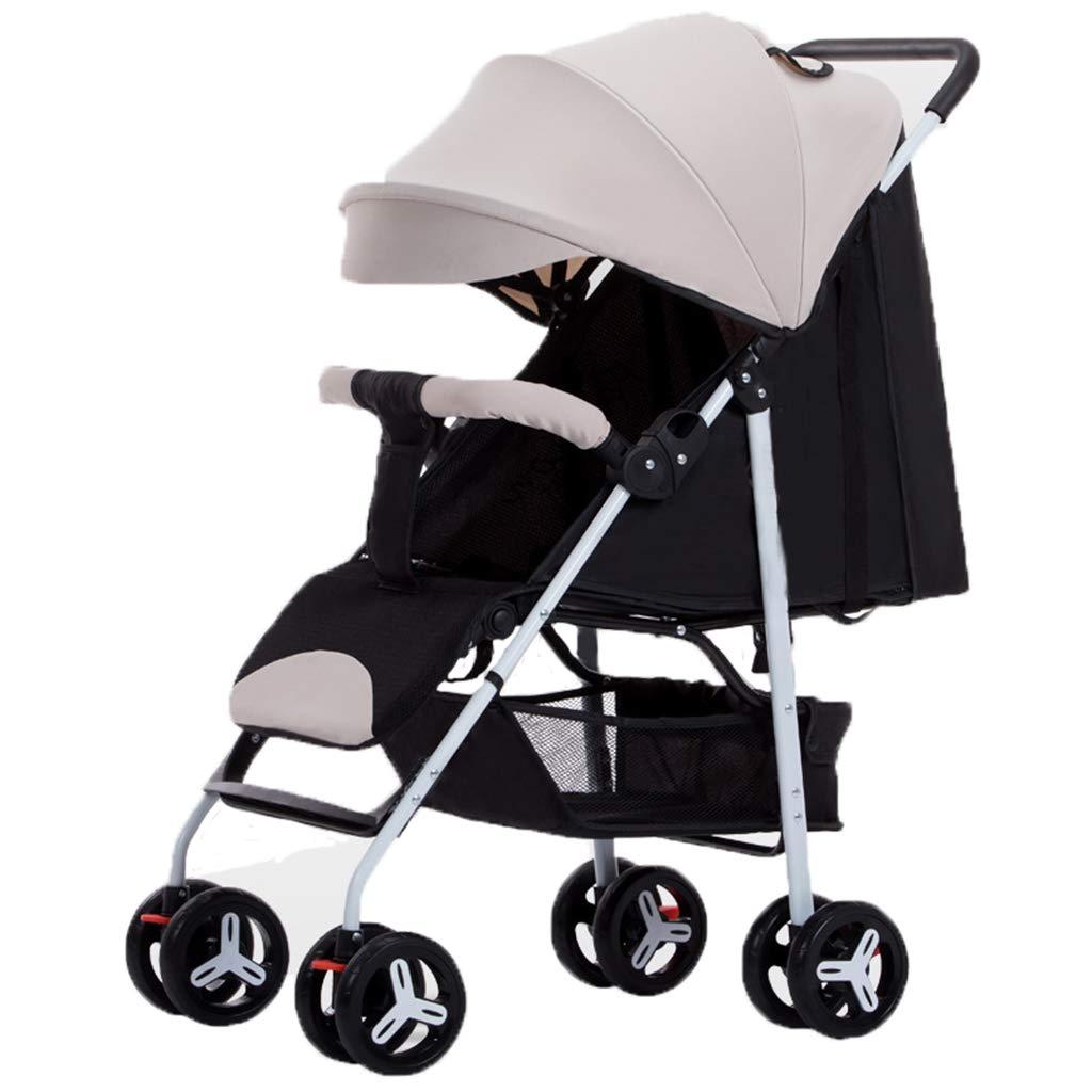 DGDG Stroller, High Landscape Reclining, Sitting, Lightweight Folding, Explosion-Proof Wheel, Four-Wheel Shock Absorber, Baby Umbrella, Baby Stroller