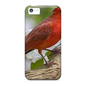 Perfect Fit Red Bird Case For Iphone - 5c hjbrhga1544