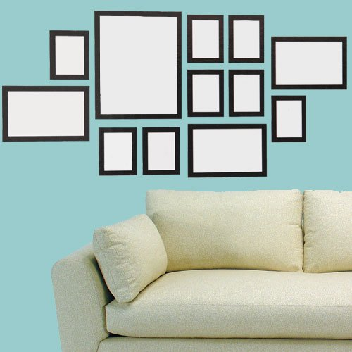 Freelogix Black Multi Picture Photo Frames - 12 Piece Wall Collage ...
