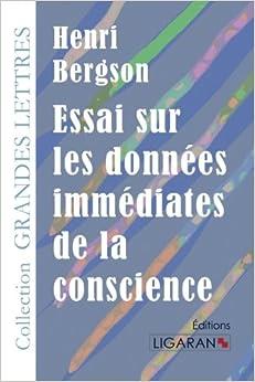 Book Essai sur les données immédiates de la conscience (French Edition)