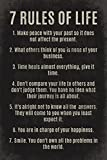Amazon Price History for:7 Rules Of Life, motivational poster print