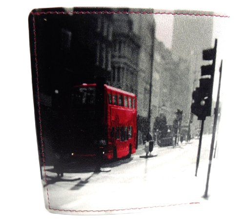 RETRO 7 LEATHER BY FOLD 3 LONDON MENS DESIGNER BUS 907 WALLET zAxwSBYq