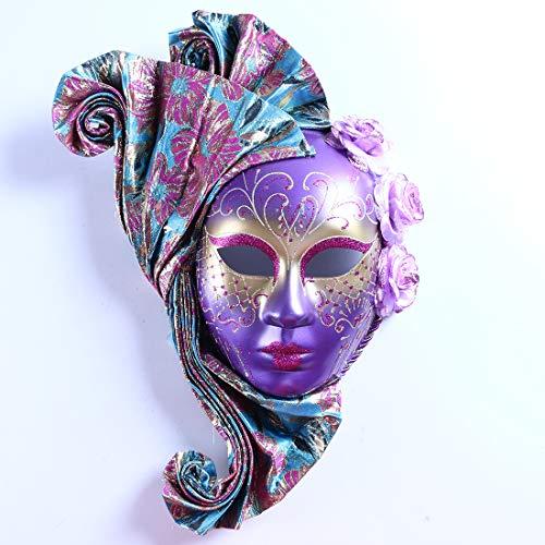Masquerade Mask Mardi Gras Mask for Women Handmade Venetian Party Prom Ball ()