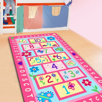 FADFAY Home Textile,Fashion Hopscotch Kids Carpet Bedroom,Sw