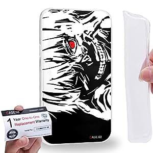 Case88 [Samsung Galaxy J7] Gel TPU Carcasa/Funda & Tarjeta de garantía - Tokyo Ghoul Yoshimura Kaneki Ken 0936