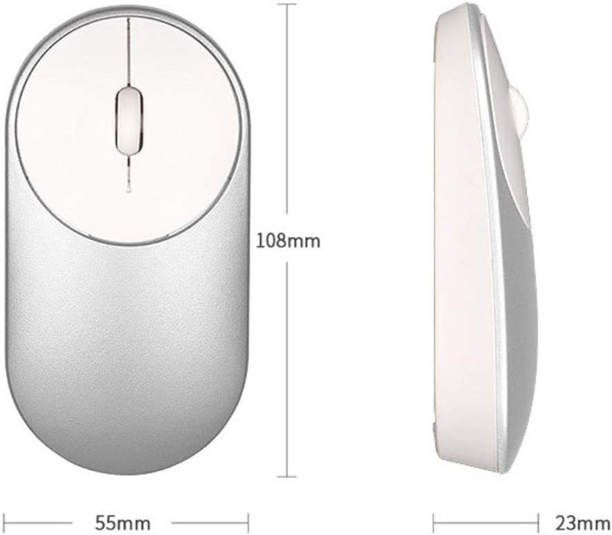 Silver 2.4G Wireless Mouse Photoelectric Wireless No Interference Light and Portable Mouse Portable Silent Wireless Mouse 5PCS
