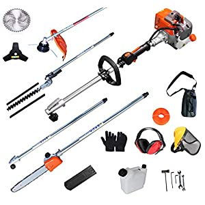 PROYAMA 26cc 5 in 1 Trimming Tools, Multi Functional Sets Gas Hedge Trimmer, String Trimmer, Brush Cutter, Pole Chainsaw…
