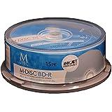 M-DISC 25GB Blu-ray Media, Inkjet Printable - 15 Disc Cake Box