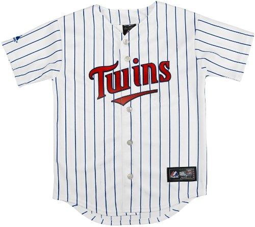 MLB Minnesota Twins Replica Jersey, White, Large