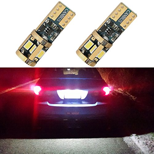 Alla Lighting T10 CANBUS Error Free 194 168 2825 W5W 175 Xtremely Super Bright 6000K White High Power Samsung 3623 9-SMD LED Lights Bulbs