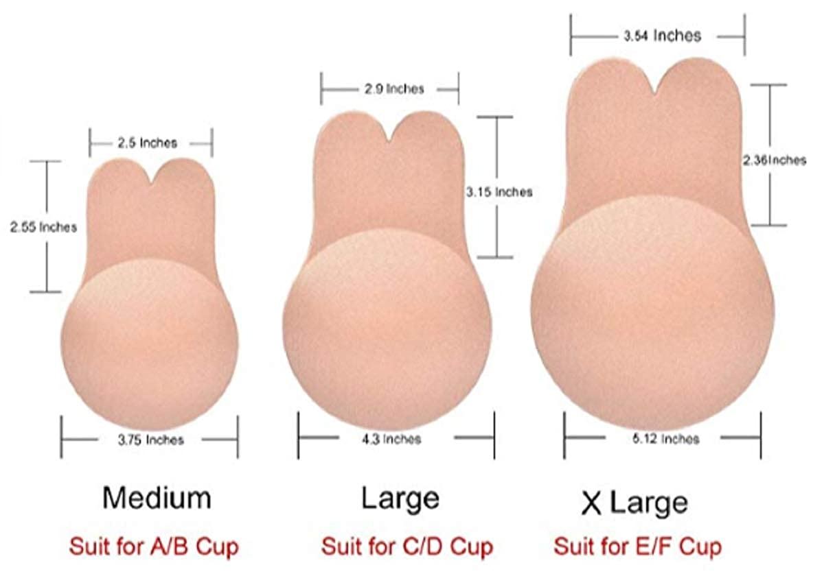 Women Nipplecovers Adhesive Breast Lift Tape Reusable Bra Beige and Black