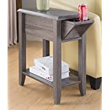 SINTECHNO S-ID161582 End Table Storage Drawer and Cup Holders