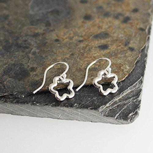 6mm Flower Earrings Sterling Silver Tiny Earrings, Modern Jewelry, Flower Earrings, Minimalist Earrings, Handmade - Art Sterling