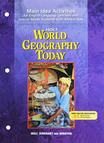 HOLT World Geography Today: Main Idea Activities for English Language  Learners and Special-Needs Students with Answer Key