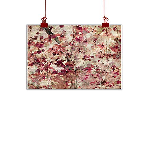 Mangooly Art Poster Print Antique,Cherry Blossoms Floral 36