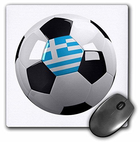 Balón de fútbol con la bandera nacional de Grecia en él griego–Cojín de mouse, 8por 20.3cm (mp _ 157028_ 1)