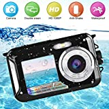 Underwater Camera Camcorder Full HD 1080P for Snorkeling 24.0 MP Waterproof Point and Shoot Digital Camera Dual Screen Action Camera
