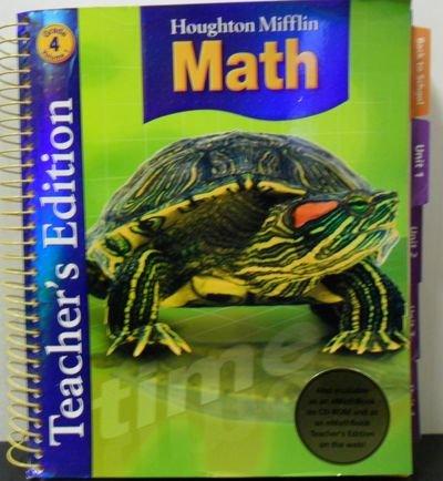 Houghton Mifflin Math, Grade 4, Vol. 1, Teacher's Edition