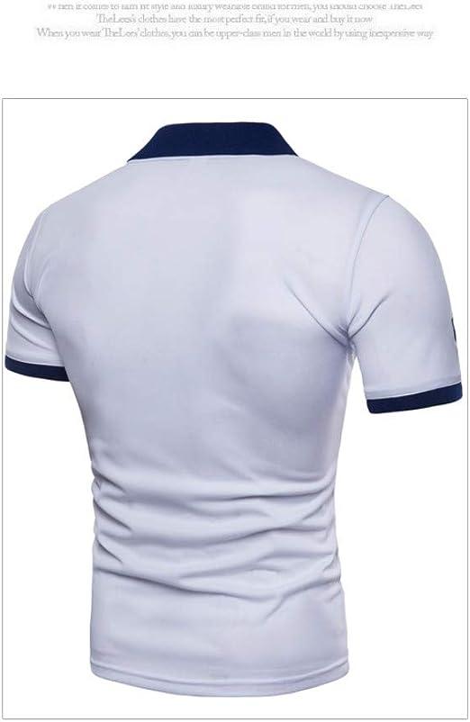 NISHISHOUZI Nueva Camiseta Hombre Polo Bordado Verano Manga Corta ...